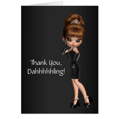 Princess Diva Thank You Cards