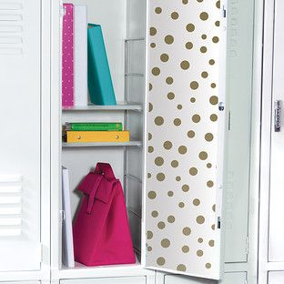 Gold Metallic Polka Dot Locker Wallpaper