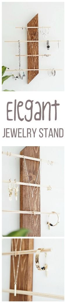 Looking for a chic place to keep your jewelry organized? And I'm not talking about that bowl of chains on your bedside table... This jewelry stand can suit anyone's needs and with several styles of wood to choose from, who wouldn't want this cute rustic decor accent in their home?! #affiliate