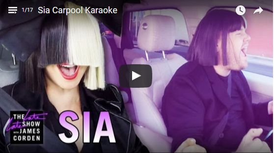 Have you recently seen The Late Late Show with James Corden, and his carpool karaoke with Sia? If not, you need to watch it now. #sia #addiction #song #writer #music #joy #happiness #karaoke #recovery #sobriety #artist
