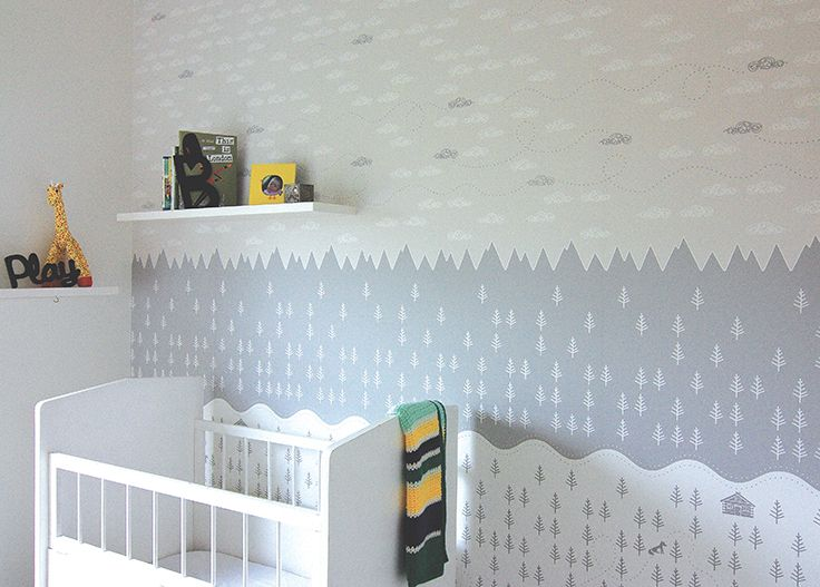 The beautifully designed 'Foxtrot' wallpaper by Muur Graphics. Designed and printed in Australia.