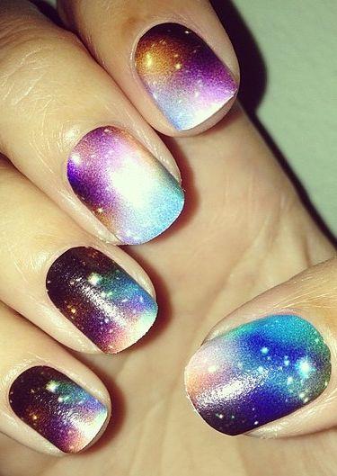 Uñas de Galaxia :D
