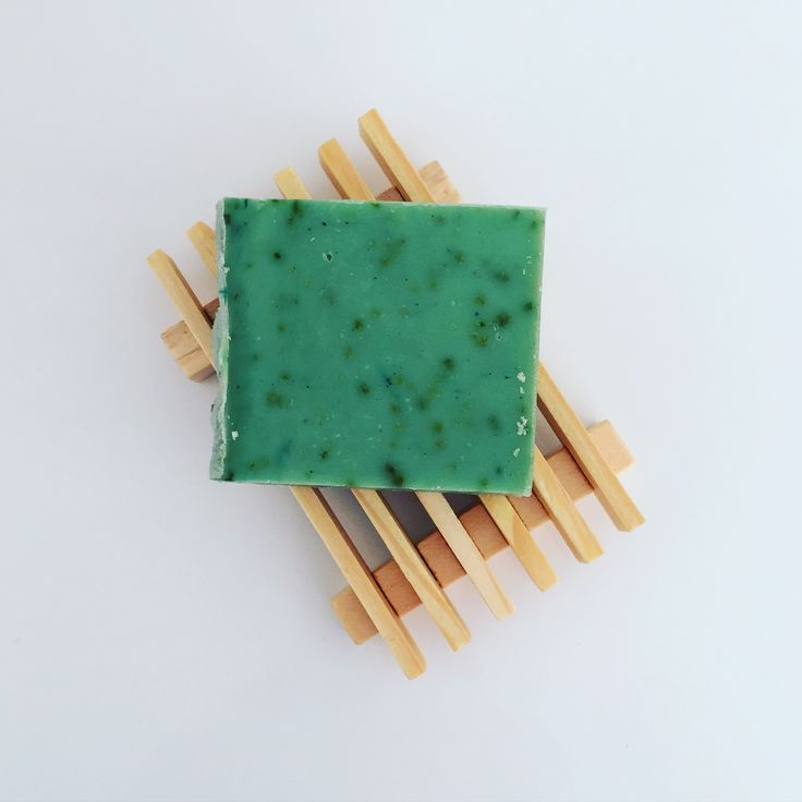 Garden Mint - small bar. Handmade artisan soap by Sparrow Soap, Perth, Western Australia.