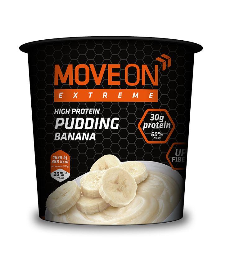 Pudding wysokobiałkowy - bananowy, pszenno-owsiany 100g. | Pudding with whey protein - banana. #moveonpl #moveon #moveonsport #sport #meal #nutrition #food #healthy #meal #pudding #athlete #fruits #banana #zdrowie #dieta #inspiracja #motywacja #fit #jedzenie