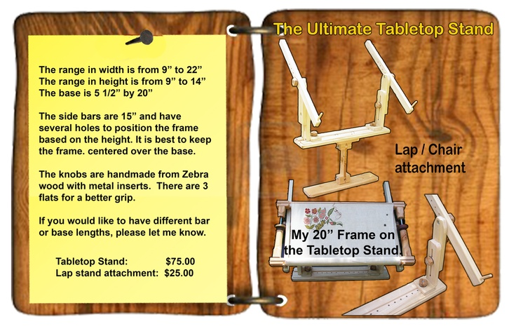 Table Top Stand Info.