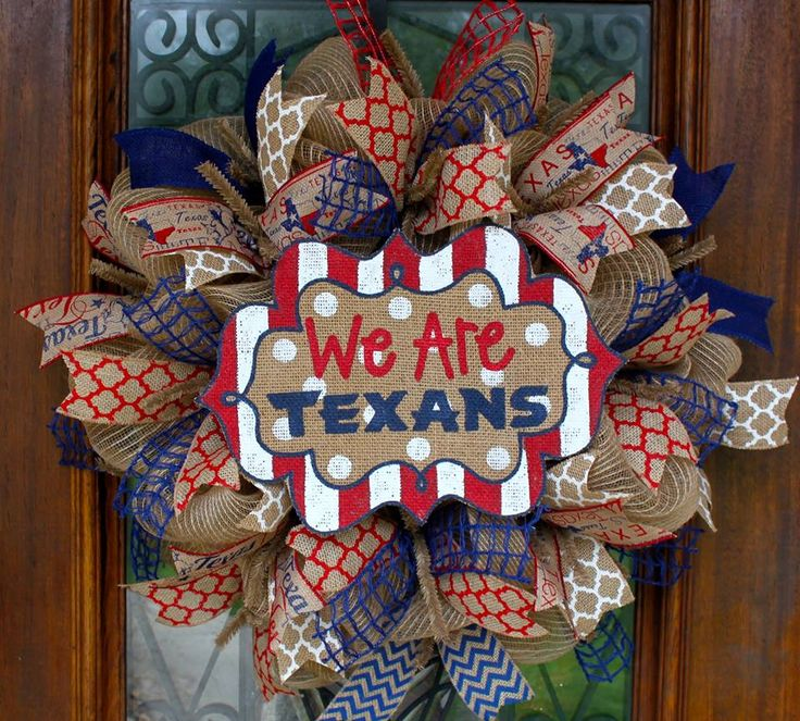 We are Texans wreath www.facebook.com/southernsass