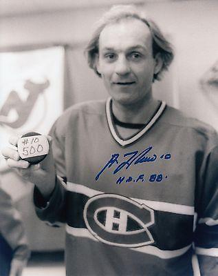 Guy LaFleur #13 8x10 Signed Photo w/COA Montreal Canadiens 11817