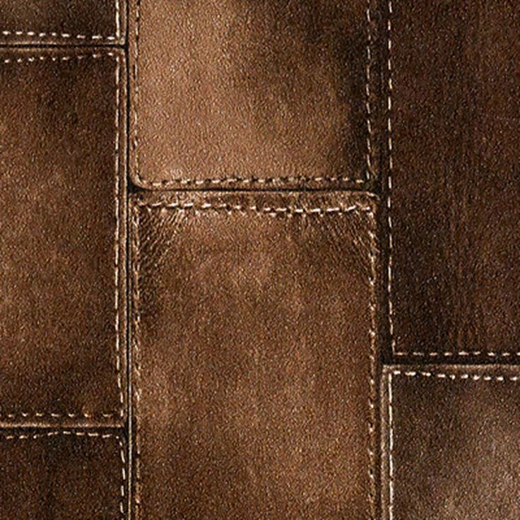 Intissé LEATHER BLOCK coloris chocolat - Papier Peint - 4murs