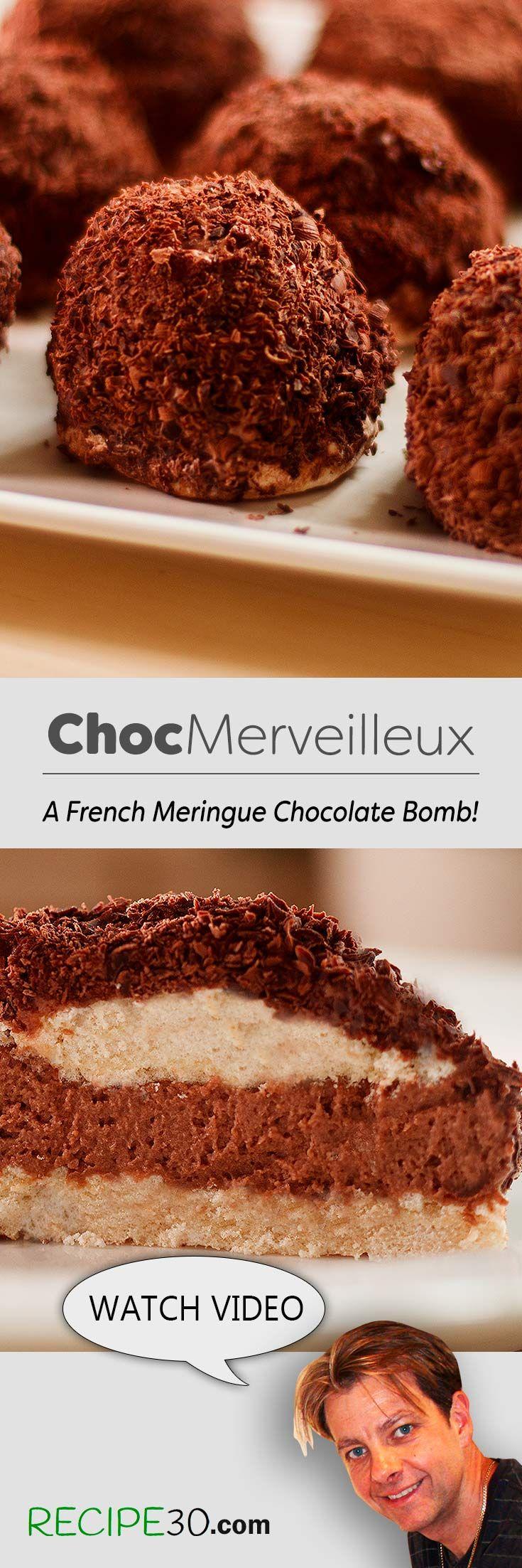 Merveilleux au chocolat A style of Crispy Meringue Chocolate Bomb