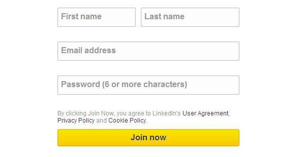 Linkedin Sign Up Form