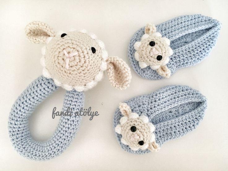 Amigurumi Baby Rattle Amigurumi Sheep