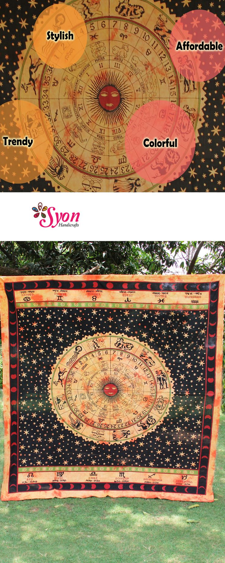 Astro brown tapestry by syon handicrafts !!
