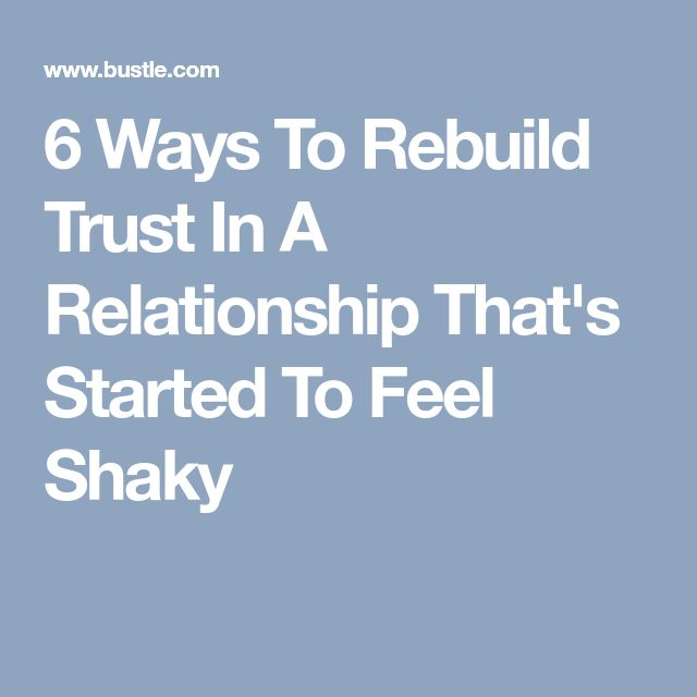 how to rebuild trust in a new relationship