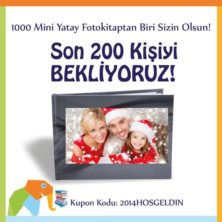 Tam 1000 Mini Yatay Foto Kitap Hediye!  Afillikitap'ta 12 Ocak'a kadar yılbaşı fotoğraflarıyla fotokitap hazırlayan ilk 1000 kişiye, mini yatay fotokitap hediye! www.afillikitap.com Kupon Kodu. 2014HOSGELDİN
