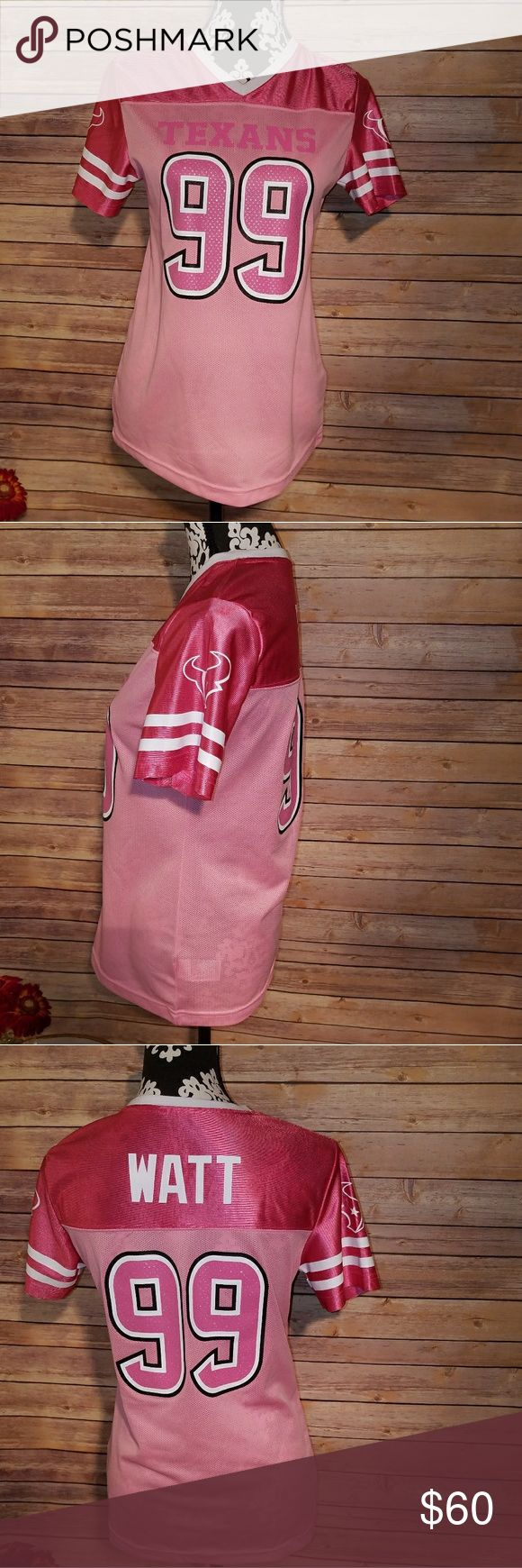 Houston Texans bling pinkjersey Perfect for football season. Pink  JJ Watt Houston Texans jersey. Size xlarge. Runs small like a small/medium. NFL Team Apparel Tops Tunics