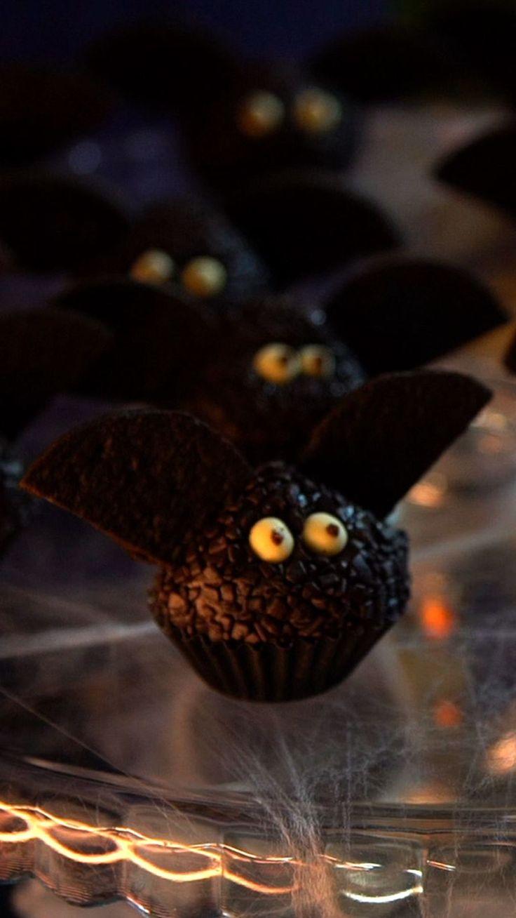 As crianças vão amar e os adultos não vão resistir a esses deliciosos brigadeiros de morcego!