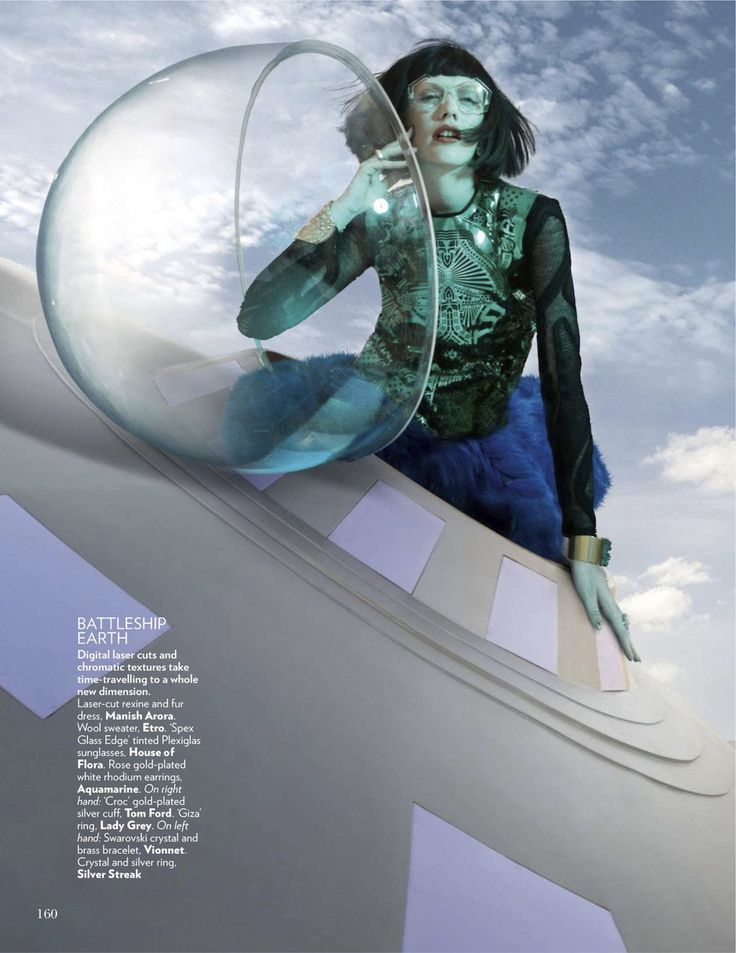 Space Odyssey: Emily Walker by Tarun Vishwa for Vogue India January 2013