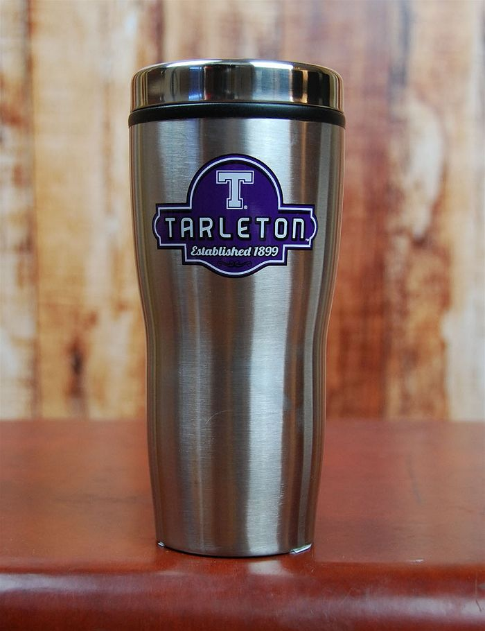 Tarleton State Travel Mug! Get your drinkin' on with this awesome Tarleton State University Travel Mug! Keeps your hot drinks hot and your cold drinks cold! Can't go wrong sippin' and showin' a little school spirit! Go Tarleton Texans!
