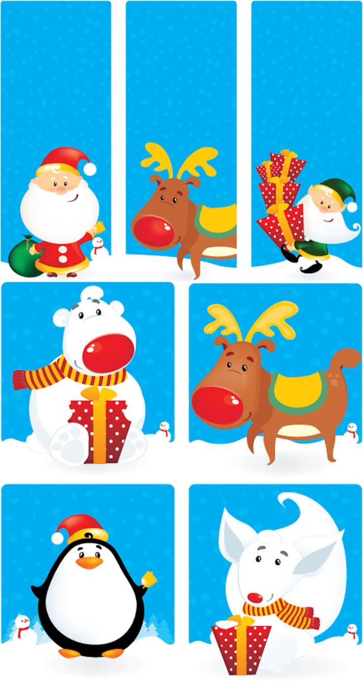 Christmas illustrations vector 2
