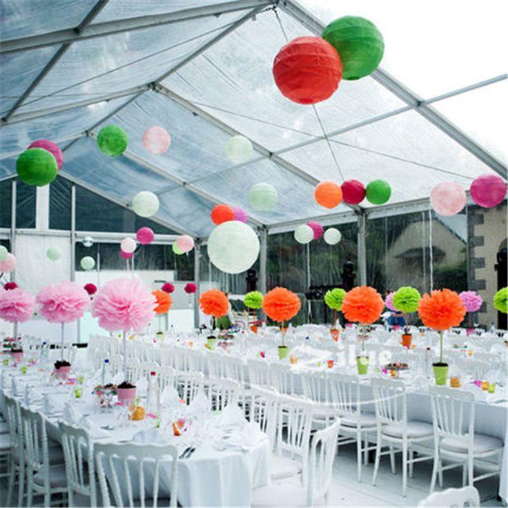 10pcs/Lot 12''(30cm) Free Shipping Chinese Paper Lantern Round Wedding Lantern Birthday Party Decorations for Kids
