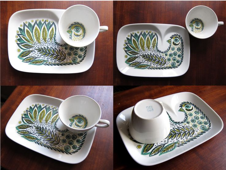 Found another Figgjo tv plate with green bird (what are the odds) on November 23rd, this time WITH its matching cup, oh joy! https://www.etsy.com/nl/listing/170643853/figgjo-flint-tv-or-snack-plate-with-cup