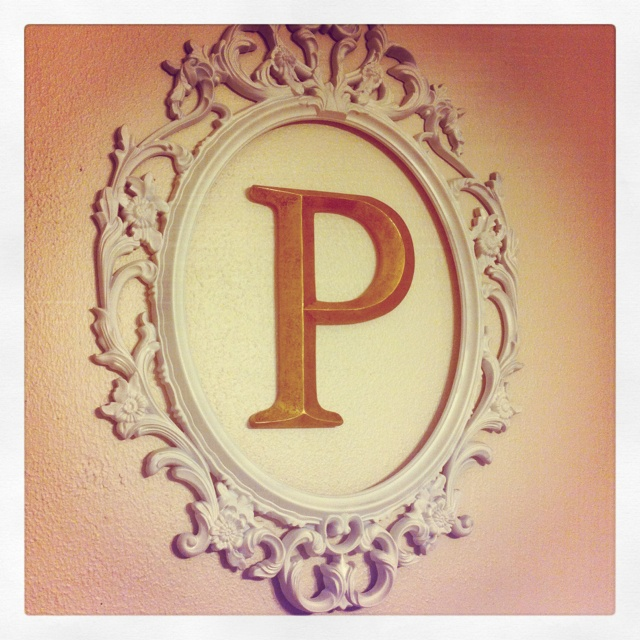 Ung Drill Frame + last name initial = lovely home decor!