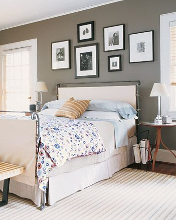 "Gray bedroom, ""Graceful Gray"" Martha Stewart.: Guest Room, Wall Colors, Decorating Ideas, Paint Colors, Bedrooms, Master Bedroom, Gray Wall, Bedroom Ideas"