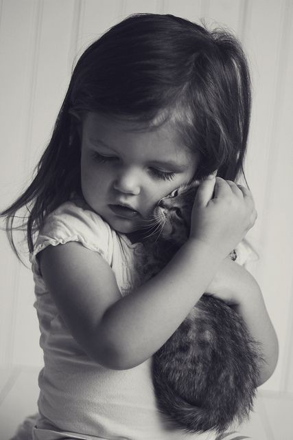 sweetLittle Girls, Cat, Sweet, Best Friends, Pets, Children, Kittens, Kids, Animal