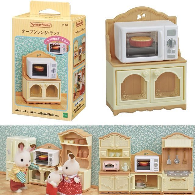 Sylvanian Families KA-420 Upgraded Kitchen Stoves and Sink Set Japan F//S New
