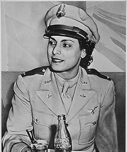 """""""Willa Beatrice Brown, a 31-year-old [African-American], serves her country by training pilots for the U.S. Army Air Forces. She is the first [African-American] woman to receive a commission as a lieutenant in the U.S. Civil Air Patrol."""", ca. 1941 - ca. 1945"""
