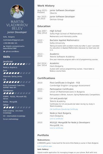 Junior Software Developer Resume Best Of Junior Software Developer Resume