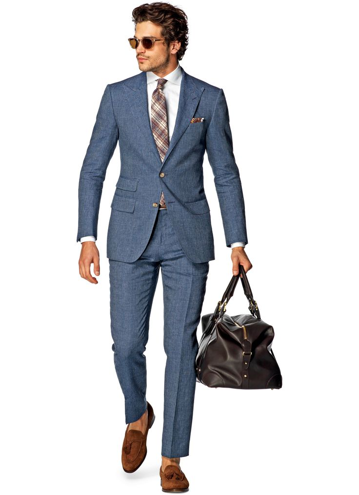 Suit Blue Stripe Washington P4239i | Suitsupply Online Store