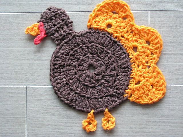Gobble Coaster Free Crochet Pattern : 17 Best ideas about Crochet Coaster Pattern on Pinterest ...