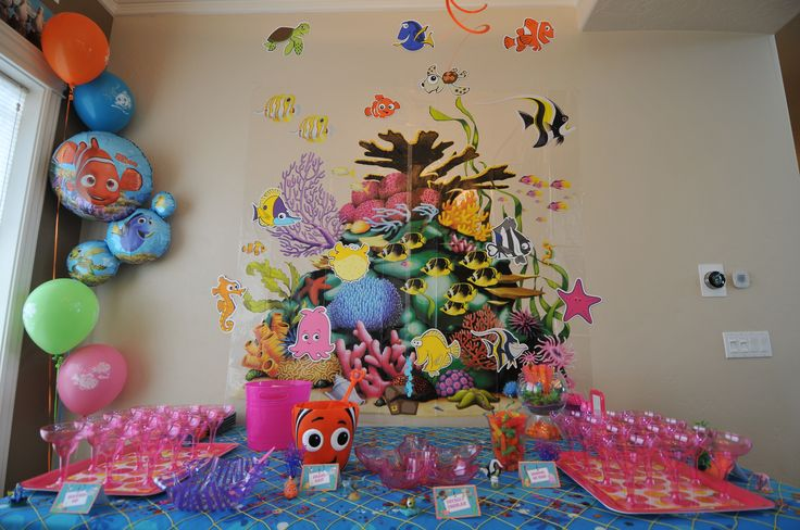 baby disney finding finding nemo baby shower table decorations nemo