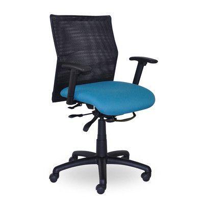 Seating Inc Jay High-Back Mesh Desk Chair Seat Mechanism: Center Tilt, Upholstery: Burgundy