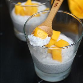 Coconut Mango Chia Pudding ~ so easy, so healthy, and so so good.