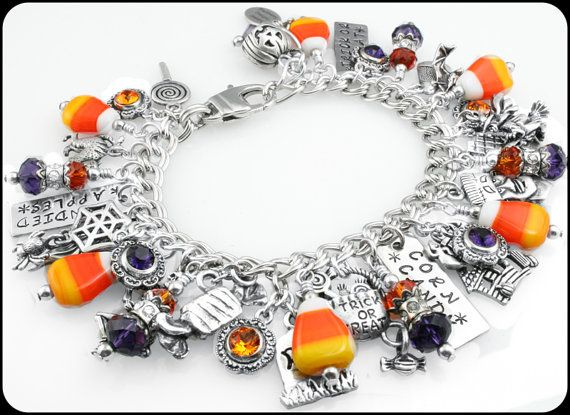 Candy Halloween Jewelry  Corn Candy Charms  by BlackberryDesigns