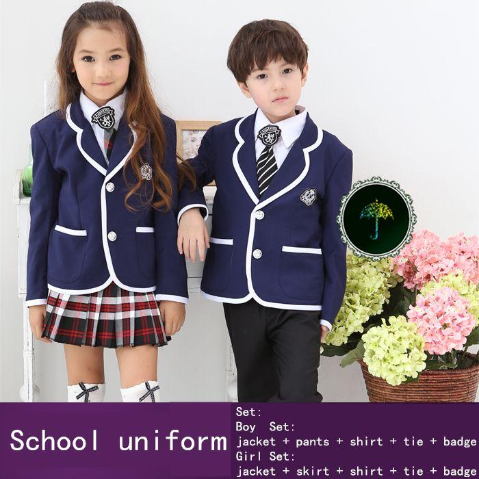 Школьная форма комплект для мальчиков и девочек рубашка юбка костюм учащихся начальной школы saia plissada высота 100 - 150 см 50
