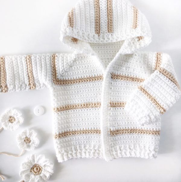 Single Crochet Baby Sweater - Daisy Farm Crafts