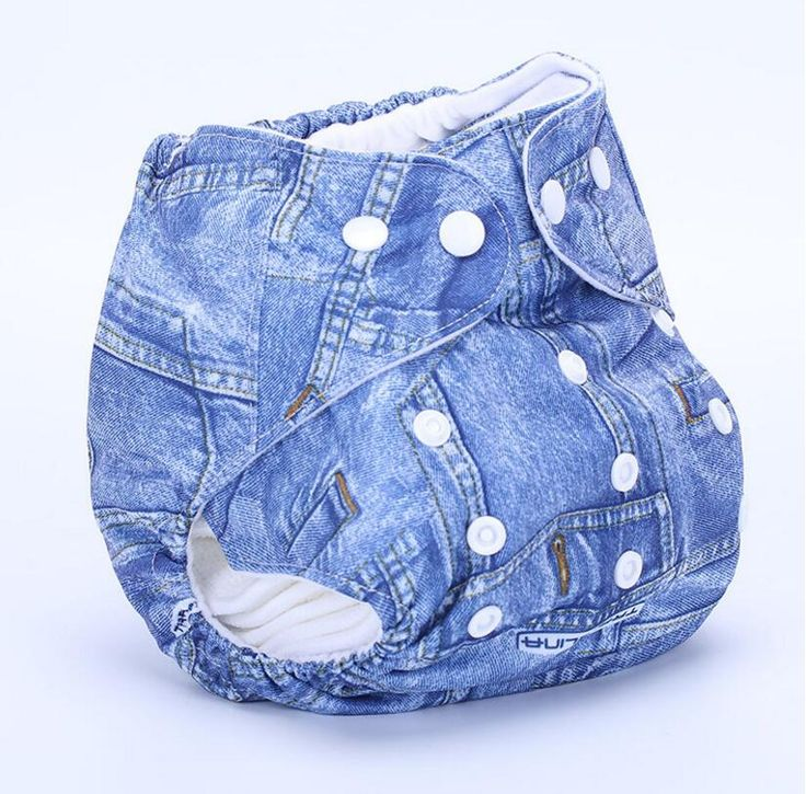 The new waterproof diaper wash diapers denim printed cloth diapers Free size Adult Diapers 50cm biggest waist SY24D5