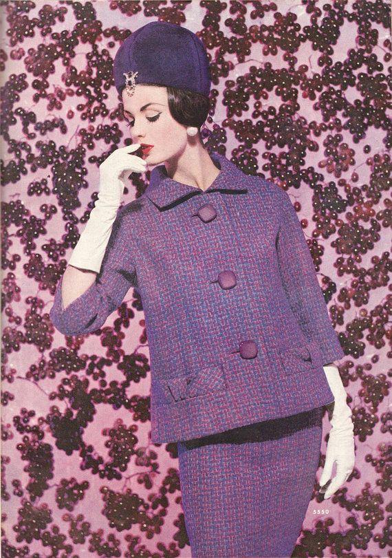 Vintage de Pierre Cardin arco bolsillo falda traje patrón McCall 5550