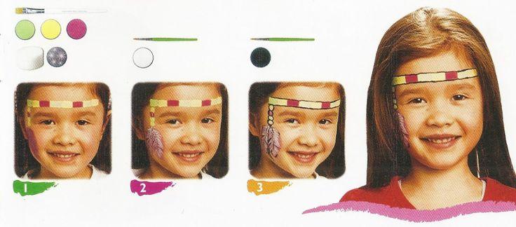 Id e maquillage tete indienne carnaval child fancy dress d guiseme - Maquillage indienne d amerique ...
