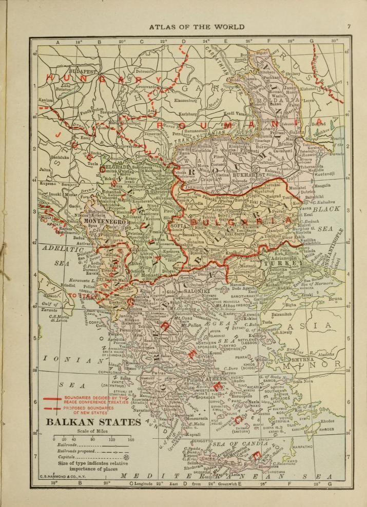 New atlas of the world 1919  C.S. Hammond & Company; Old Colony Trust Company (Boston, Mass.)