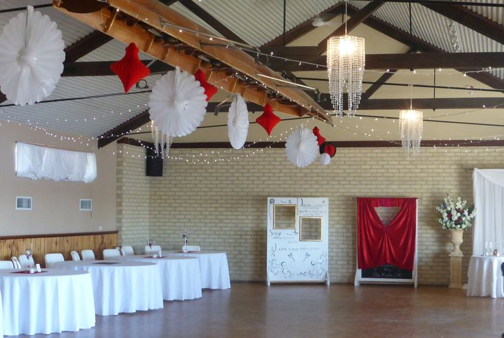 Fairy lights, small chandeliers and paper lanterns and decorations for a bit of fun.