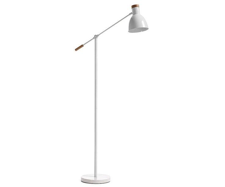 Liv lampara de pie blanca