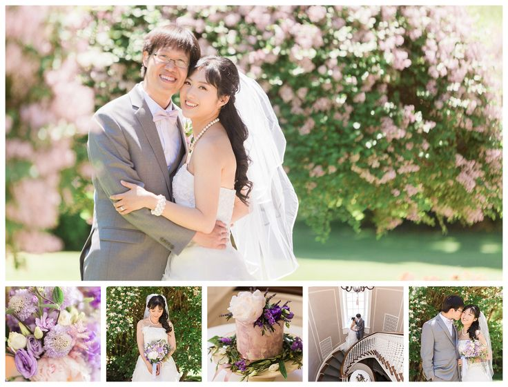 delighted to have one of our brides featured on photographer Samantha Ong's blog. It was a joyful spring wedding! Pretty blooms Estates of Sunnybrook Spring wedding photos at McLean House. Chinese Indonesian apple tree blossom flowers. Bridal portraits lavender romantic