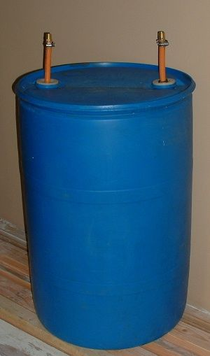84 best images about fun with plastic barrels on pinterest for Plastic hot water tank