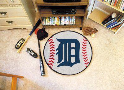 "MLB - Detroit Tigers Baseball Mat 27"" diameter"