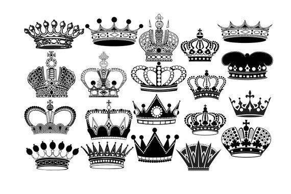 Crown Silhouette Crown Clipart Royal Crown Clip Art King Crown Queen Crown Princess Crown Crow Crown Silhouette Crown Clip Art Silhouette Clip Art