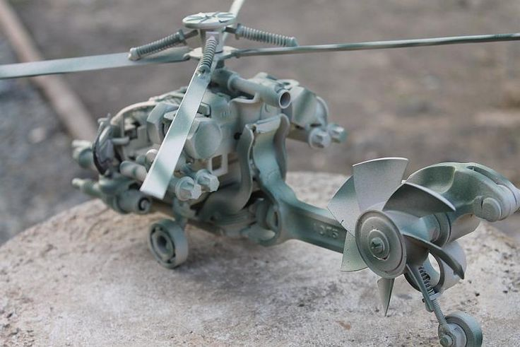 super cool helicopter made by one of the members of our welding forum!